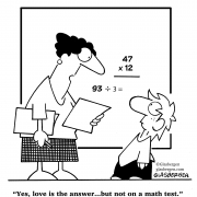 Yes, love is the answer...but not on a math test.